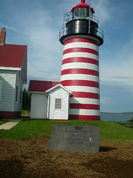 West Quoddy Head Lighthouse.